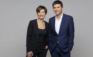 Alexandra Bensaid et Thomas Sotto, coanimateurs du grand débat sur les européennes de France 2.
