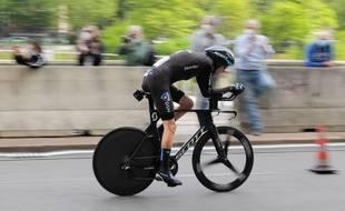 Romain Bardet (Team DSM) lors du chrono du Giro en mai 2021. (Laurent Coust / SOPA Images//Credit:SOPA Images/SIPA)