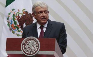 Le président mexicain Andrés Manuel Lopez Obrador, à Mexico le 5 avril 2020.