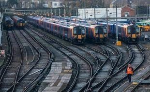 Les trains londoniens bloqués