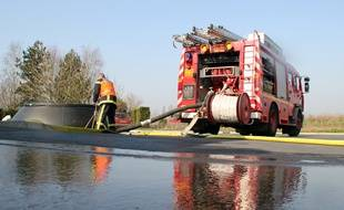 Illustration d'une intervention de pompiers, ici en Ille-et-Vilaine.