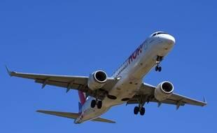 Un Airbus A320 exploité par Hop!, filiale d'Air France.