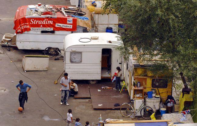 Un bidonville rom dans l'agglomération nantaise.