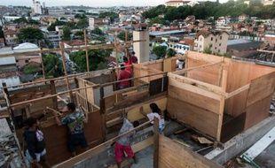 Un immeuble occupé par des habitants de Rio ne pouvant plus payer de loyer, le 4 avril 2014, à Rio de Janeiro.