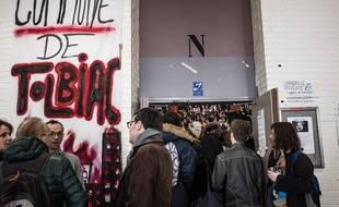 L'université Paris I de Tolbiac est bloquée depuis une dizaine de jours.