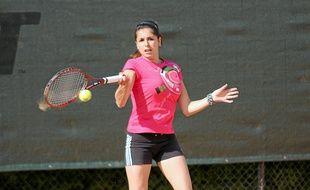 Elsa Pellegrini, il y a deux ans, lors des interclubs avec le Grenoble Tennis.