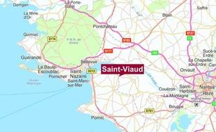 Localisation de Saint-Viaud, en Loire-Atlantique