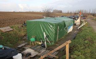 Le camp de migrants de Norrent-Fontes (62), photographié ici en 2011.