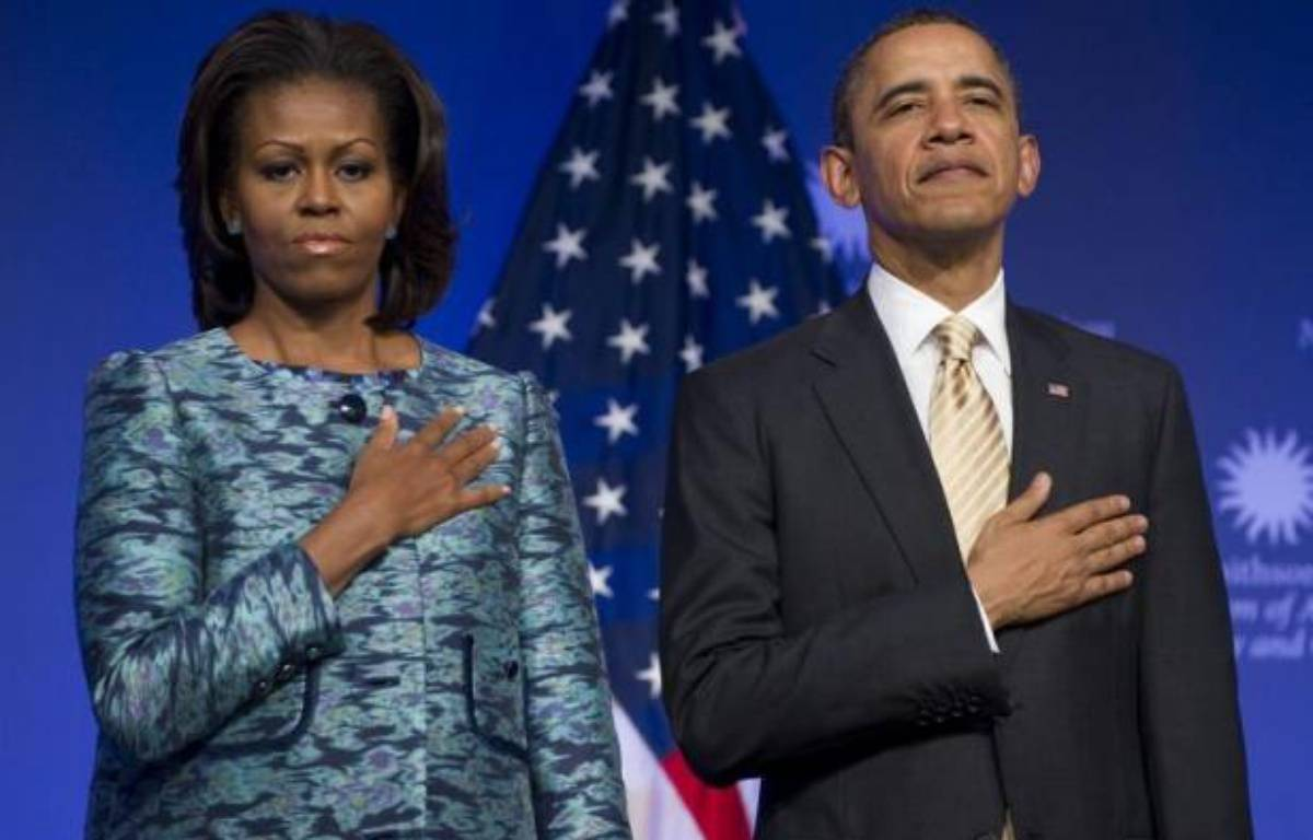 """Barack Obama a souhaité que la """"tragédie"""" mais aussi les """"progrès"""" de la communauté noire fassent partie intégrante de l'histoire des Etats-Unis, en inaugurant mercredi le chantier du Musée national de l'histoire et de la culture afro-américaines au centre de Washington. – Saul Loeb afp.com"""