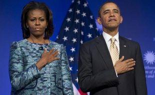 """Barack Obama a souhaité que la """"tragédie"""" mais aussi les """"progrès"""" de la communauté noire fassent partie intégrante de l'histoire des Etats-Unis, en inaugurant mercredi le chantier du Musée national de l'histoire et de la culture afro-américaines au centre de Washington."""
