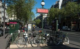 Une station de métro à Paris. (Illustration)