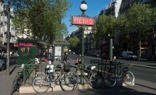 Une station de métro à Paris. (Illustration)