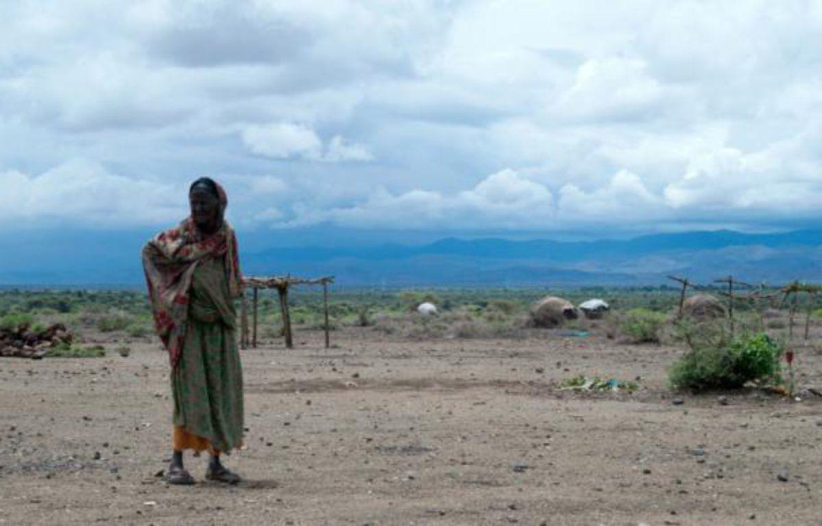 """Une habitante de la province de Sitti dans l'est de l'Ethiopie, classée par l'ONU en """"situation d'urgence"""", dernier niveau avant la famine, le 16 avril 2016 – VINCENT DEFAIT AFP"""