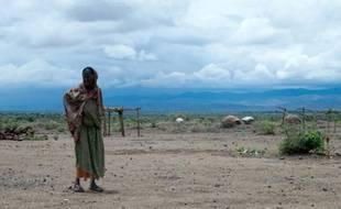 """Une habitante de la province de Sitti dans l'est de l'Ethiopie, classée par l'ONU en """"situation d'urgence"""", dernier niveau avant la famine, le 16 avril 2016"""