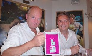 Christophe Boisselier et Sébastien Burel ont planché pendant plusieurs mois sur l'application Frigo Magic.