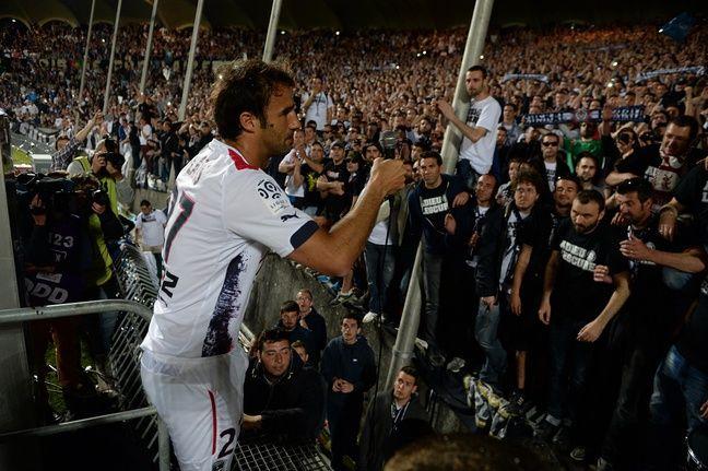 Marc Planus lors de l'hommage des supporters.