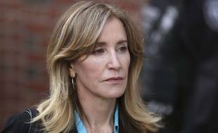 Felicity Huffman devant le tribunal le 3 avril 2019.