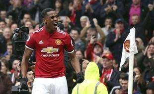 Anthony Martial après son but face à Tottenham