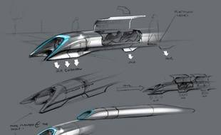 """Voyager à une vitesse quasi-supersonique en toute sécurité et pour un prix modique ? L'entrepreneur visionnaire américano-sud-africain Elon Musk pense avoir trouvé la solution avec son """"Hyperloop"""", dont le concept révolutionnaire a été dévoilé lundi."""