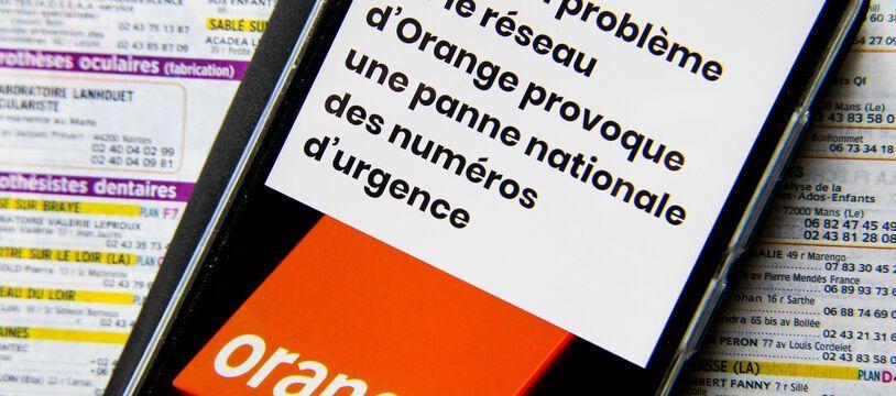 Des problèmes sur le réseau d'Orange ont provoqué une panne nationale des numéros d'urgence début juin (illustration).