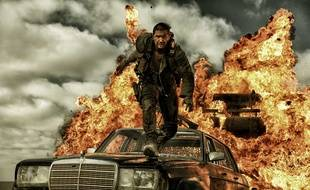 """Tom Hardy in a scene of the film """"Mad Max : Fury Road"""" directed by George Miller. USA 2013/Credit:LILO/SIPA/1408011559"""
