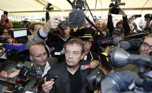 """Paris, le 4 novembre 2013 - Restaurant Drouant Pierre Lemaitre est lauréat du prix Goncourt 2013 pour son roman """"Au revoir là-haut"""""""