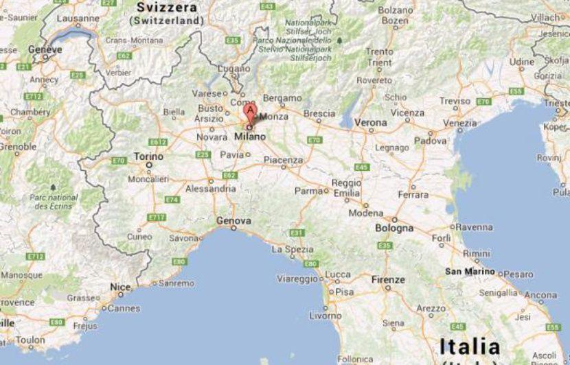 carte de l italie du nord