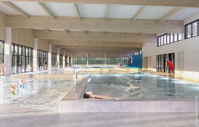 Plusieurs bassins dont un de 25 mètres etd es espaces de détente (spa, hammam) sont prévus dans le complexe.