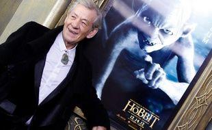 L'acteur Ian McKellen, qui incarne Gandalf dans le «Hobbit», lors de la première du film à New York, le 6 décembre 2012.