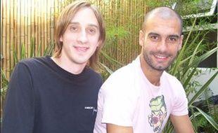 Matias Manna et Pep Guardiola.