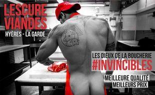 La campagne d'affichage lancée par Lescure Viandes. Gabo Santi