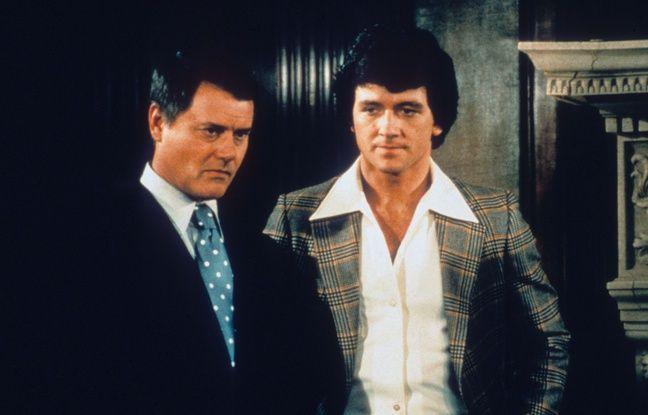 Illustration de la série «Dallas» (1978-1991), avec Larry Hagman en JR Ewing et Patrick Duffy en Bobby Ewing