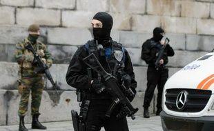 Policiers et militaires  le 20 novembre 2015 à Bruxelles