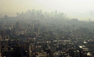 New York sous un nuage de pollution.