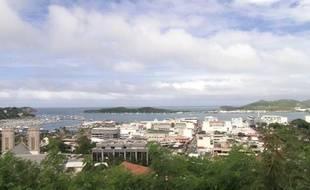 Le port de Nouméa, le 6 février 2014, en Nouvelle-Calédonie