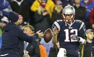 Le quarterback des New England Patriots, Tom Brady, lors de la finale de conférence contre les Colts d'Indianapolis, le 18 janvier 2015.
