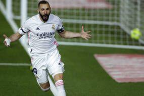 Karim Benzema a inscrit une superbe talonnade pour ouvrir la marque lors du clasico, samedi soir.