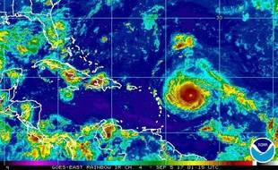L'ouragan Irma à l'est des Antilles, le 4 septembre 2017.