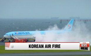 Un avion a été évacué après un départ de feu sur un moteur à Tokyo