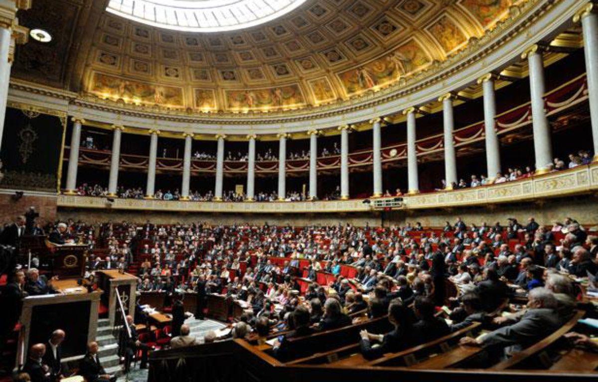 Illustration de l'hémicycle de l'Assemblée nationale, le 17 juillet 2012. – WITT/SIPA