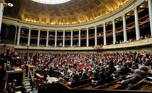 Illustration de l'hémicycle de l'Assemblée nationale, le 17 juillet 2012.