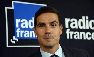 Portrait du PDG de Radio France Mathieu Gallet pris le 7 octobre 2014 à Paris