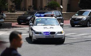 Image d'illustration d'une voiture de police en Chine.