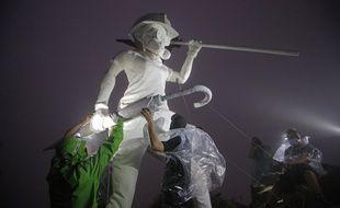 Des contestataires hongkongais ont hissé cette statue le 13 octobre dernier sur le «Lion Rock ». La « Dame de la Liberté » est devenue le symbole de la lutte pro démocratique.