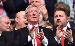 L'ancien entraîneur de Manchester United, Sir Alex Ferguson, le 21 avril 2018.
