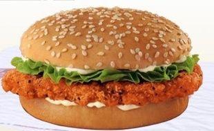 Le Spicy chik'n crisp de Burger King