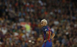 Neymar lors du match entre le Barça et l'Atlético le 21 septembre 2016.