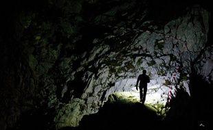 Le crane de bison préhistorique a été découvert dans une grotte de l'Ai (illustration).