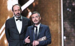 Le réalisateur Xavier Legrand accepte le César du meilleur film pour «Jusqu'à la garde», le 22 février 2019.