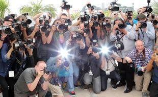 Des photographes durant le Festival de Cannes, le 21 mai 2014.